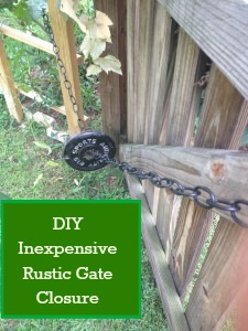 DIY Inexpensive Gate Closure