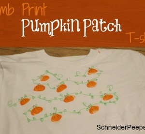 SchneiderPeeps - thumb print pumpkin patch t-shirt