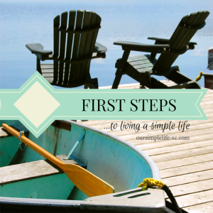 Steps for living a simple life
