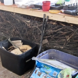 How To Build a Kindling Bin