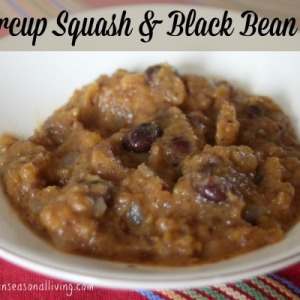Buttercup Squash & Black Bean Chili