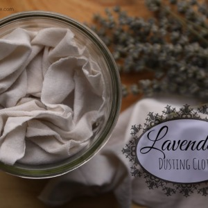 How to Make Lavender Dusting Cloths