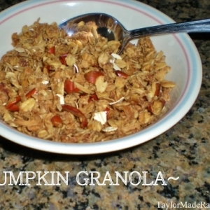 Delicious Homemade PUMPKIN GRANOLA!