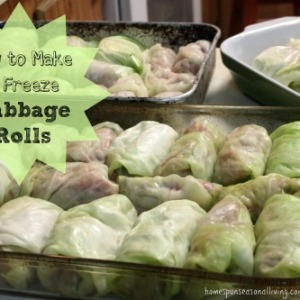How to Make & Freeze Cabbage Rolls