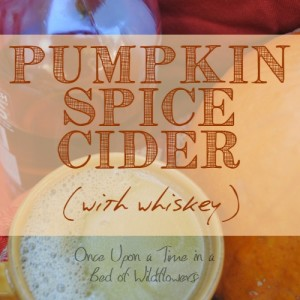 Pumpkin Spice Cider with Whiskey