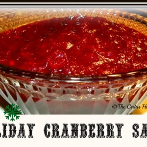 Cranberry Sauce for the Holidays