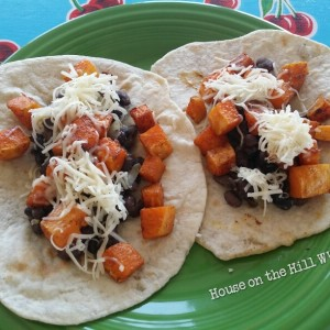 Black Bean and Butternut Squash Soft Tacos