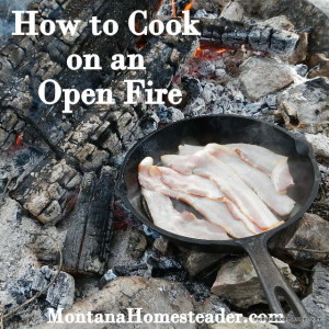 How to cook on an open fire
