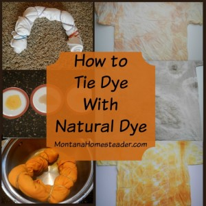 How to Tie Dye With Natural Dye