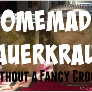 Homemade Sauerkraut Without a Crock