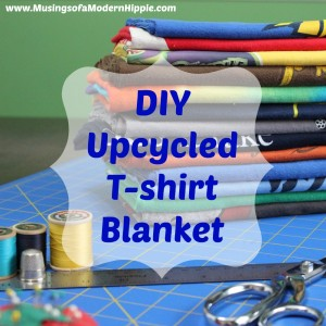 DIY Upcycled T-shirt Blanket