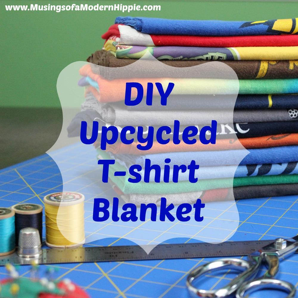 DIY Upcycled T-shirt Blanket