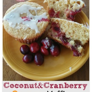 Coconut Cranberry Orange Muffins