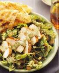 Chicken Fajita Salad with Poblano Buttermilk Dressing Recipe