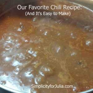 A Winter Classic: My favorite Chili Recipe