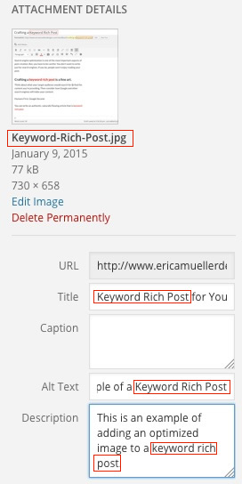 Image for a Keyword Rich Post