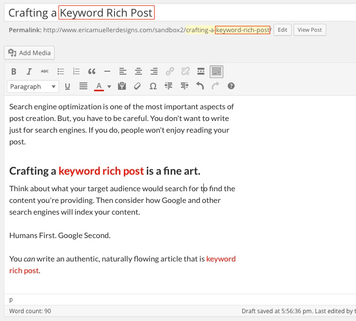 Keyword Rich Post