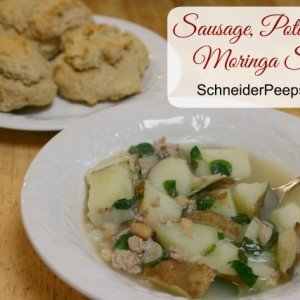 Sausage, Potato and Moringa Soup