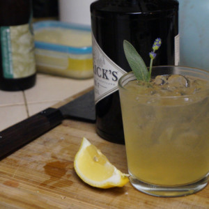 Lavender and Honey Gin Fizz