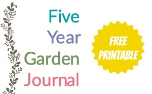 image regarding Free Printable Garden Journal identified as 5 12 months Backyard Magazine A Absolutely free Printable Homestead