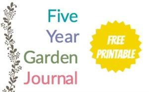 photograph about Free Printable Garden Journal named 5 Yr Back garden Magazine A Totally free Printable Homestead