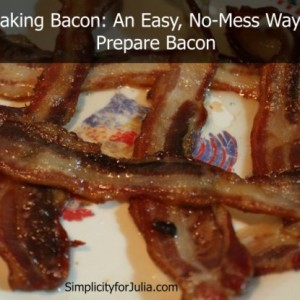 An Easy, No Splatter Way to Make Bacon