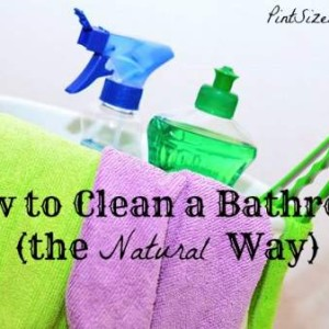 How to Clean a Bathroom (the Natural Way)