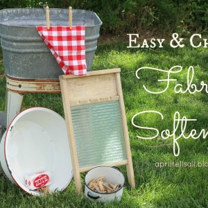 1 Ingredient Fabric Softener {Easy & Cheap}