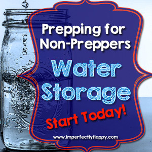 Start Your Water Storage