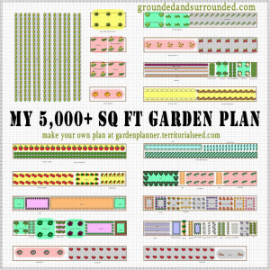 5,000 Sq Ft Vegetable Garden with free .PDF Planting Calendar