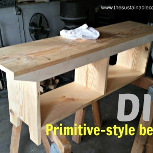 Making a Primitive Bench