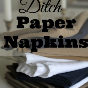How To Ditch Your Paper Napkins