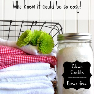 How to make DIY laundry detergent that's non-toxic, Borax-free, yet powerfully effective.