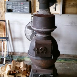 Installing an Antique Cast Iron Wood Stove