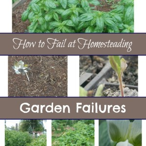 How to Fail at Gardening