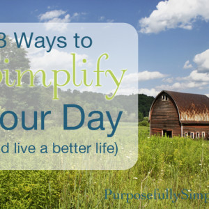 8 Ways to Simplify Your Day (and live a better life)
