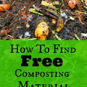 How To Find Free Composting Material