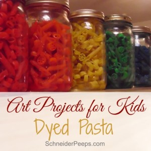 Kids Craft – Dyed pasta