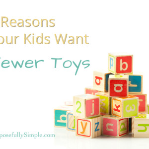 9 Reasons Your Kids Want Fewer Toys