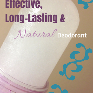 The Most Effective and Long Lasting Natural Deodorant
