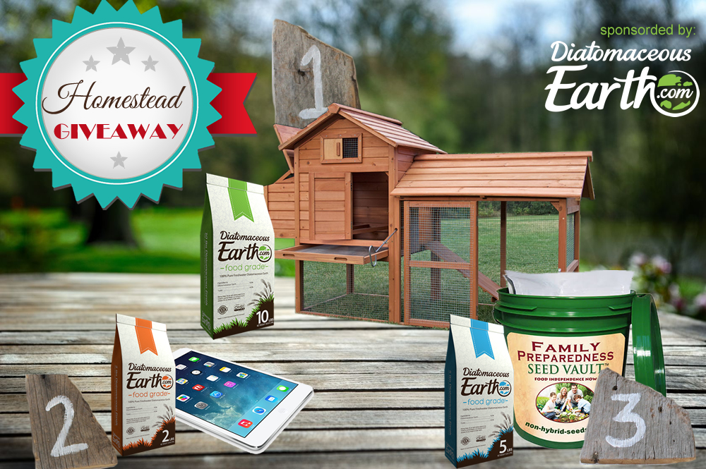 Enter the homestead giveaway sponsored by DiatomaceousEarth.com
