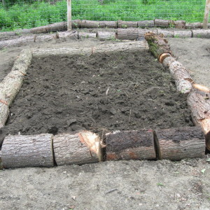 Free Raised Beds Using Cord Wood