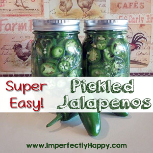 Super Easy Pickled Jalapenos