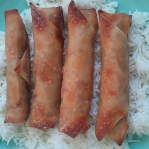 Pork Egg Rolls-As Spicy As You'd Like!