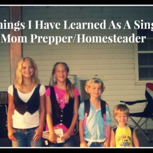 9 Things I Have Learned As A Single Mom Prepper/Homesteader