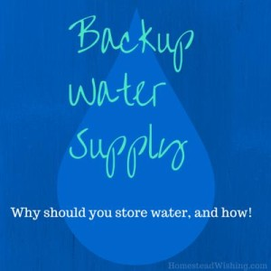 Backup Water Supply – The Basics