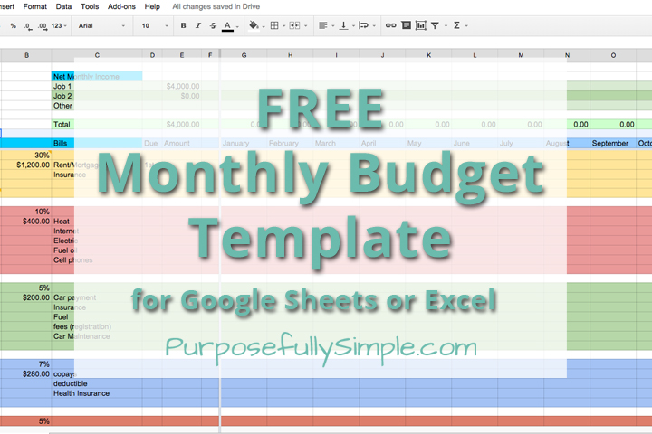 Free Monthly Budget Spreadsheet - Homestead Bloggers Network