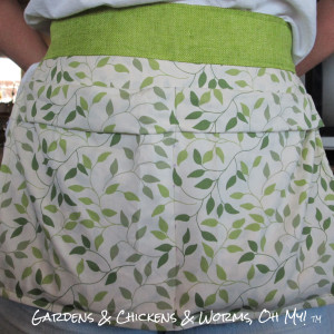 An Egg Gathering Apron From a Pillowcase