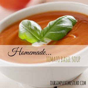 Homemade Tomato Basil Soup