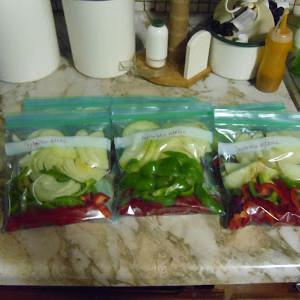 Fajita Vegetable Packets: A Great Way To Use Up The Garden Bounty!